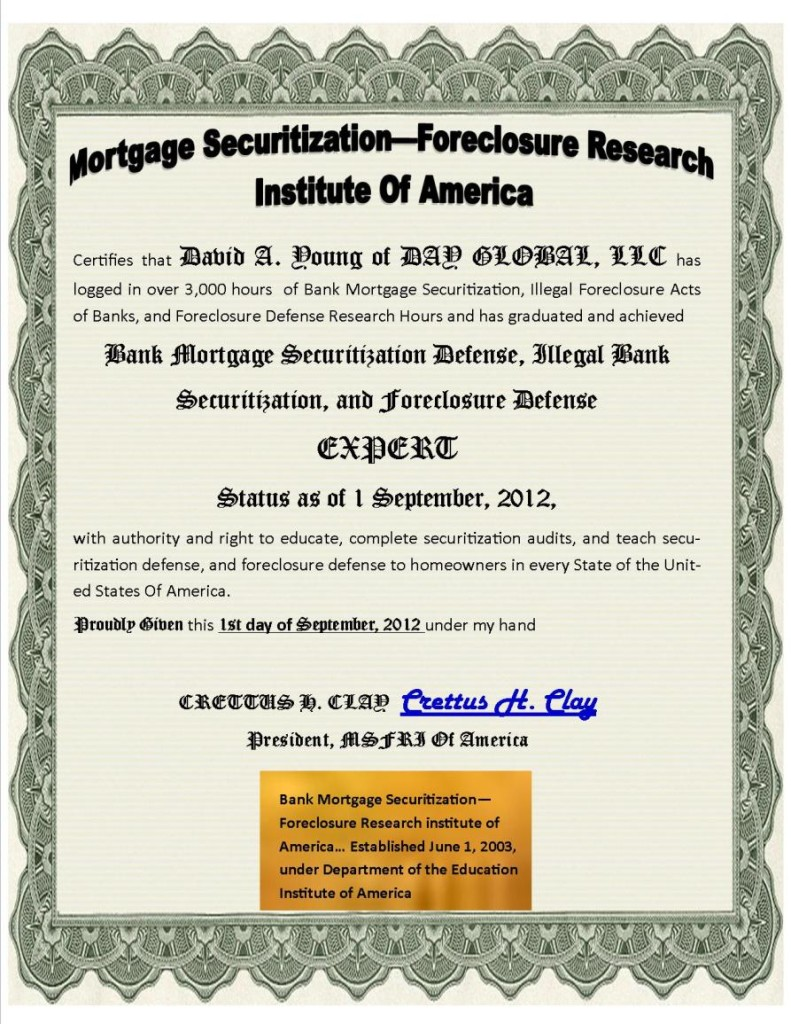 Credit Payoff Agreement Security Promissory Note instruments to pay off mortgage debts.